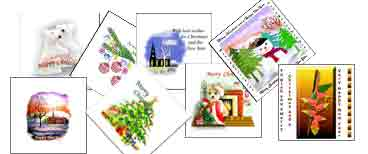 Samples of Christmas cards
