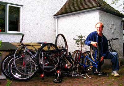 Fund raising bicycle repairing